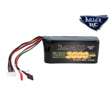 KILLER RC 3600mAh 14.8v RX LiPo Battery (For use with the Killer RC Servo-Max voltage regulator & Hitec 900/1000/1005SGT servo)