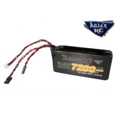 KILLER RC  7200mAh 7.4v RX LiPo Battery - (Losi 5IVE, Kraken Vekta, and some Redcats)